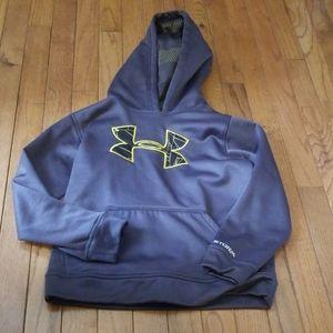 Under armour boys Y xs gray hoodie